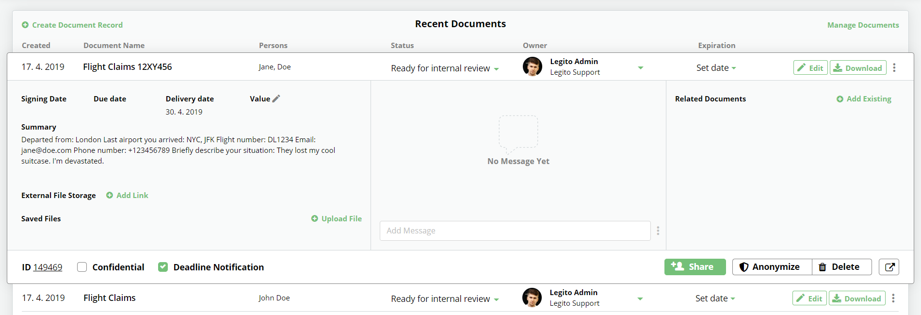Use Legito For Collaborating On Selected Documents With Your Clients